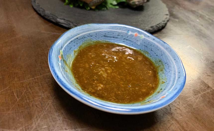 アワビ 肝醤油